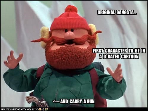 cartoons,g rated,gangster,guns,OG,yukon cornelius
