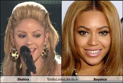 Shakira Totally Looks Like Beyonce Cheezburger Funny Memes Funny Pictures