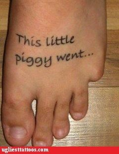this little piggy ain't as clever as he thinks.
