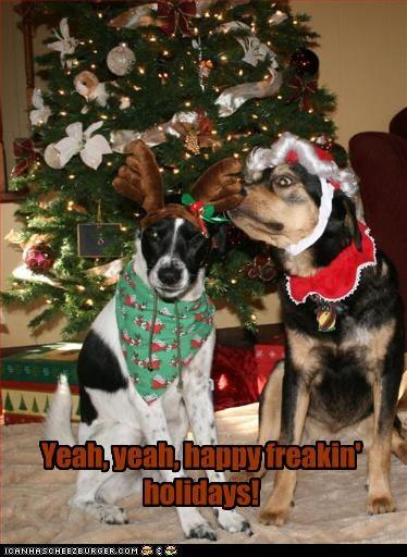 Yeah, yeah, happy freakin' holidays!