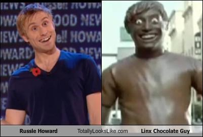 axe chocolate comedian grooming products guy linx russell howard