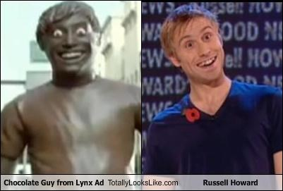 Chocolate Guy from Lynx Ad Totally Looks Like Russell Howard