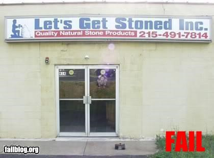 arsenic,business,company,rape,signs,spring,stoned,store front,van,water