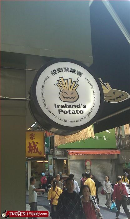 g rated Ireland joke marriage potato signs wtf