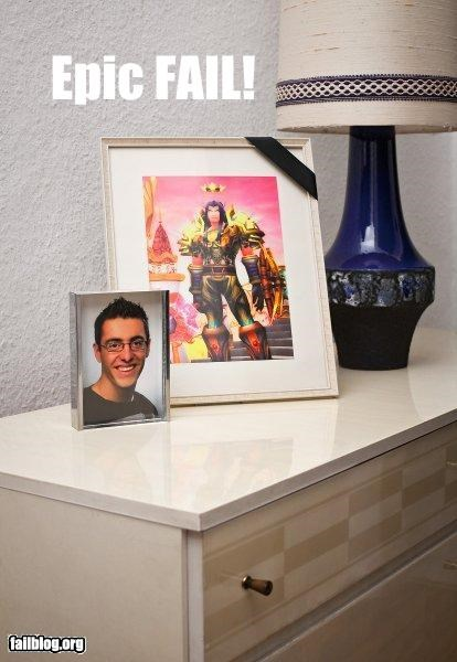 g rated Photo picture frame world of warcraft wtf - 2925413120