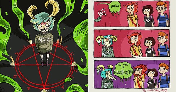 artista crea comic lucia hija de satan