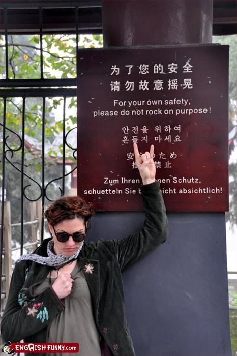 Rock on purpose Punk cabaret musician Amanda Palmer rebels against the Chinese system.