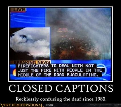 close captioning deaf news Sad television - 2928474368
