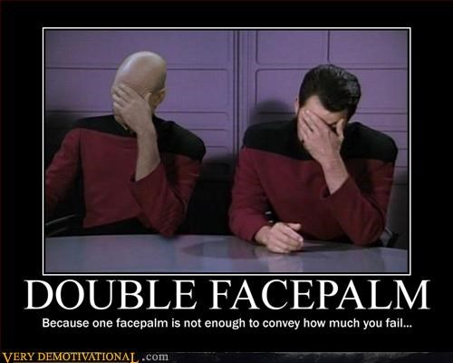 face palm hilarious number 1 picard Star Trek - 2928492544