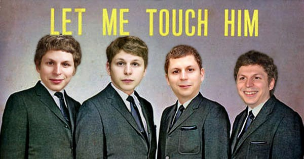 Collection of funny memes of Michael Cera photoshopped onto album covers, hip-hop, music, rap, rock, rock and roll, photoshop.