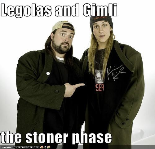 drugs,gimli,jason mewes,jay and silent bob,kevin smith,legolas thranduillion,pot,stoners