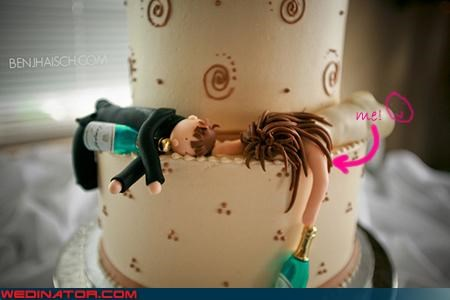 bride cake topper Dreamcake drunk groom sleeping wedding cake Wedding Themes - 2929686528
