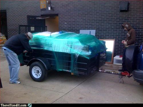 hauling,Mission Improbable,moving day,not intended use,plastic wrap