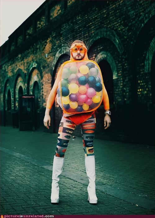 Balloons body suit boots creepy guy wtf - 2931807488