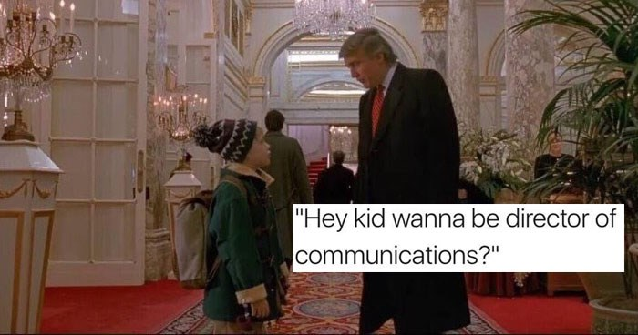 Hump day memes about Donald Trump, Anthony Scaramucci, music, food, dogs, cats, kids, AOL, away messages, the chainsmokers, pop music, pop, dating, relationships.