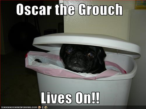garbage oscar the grouch pug Sesame Street trash - 2936022784