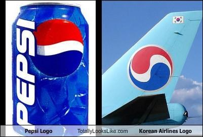 blue,korean air,logos,pepsi,red,white