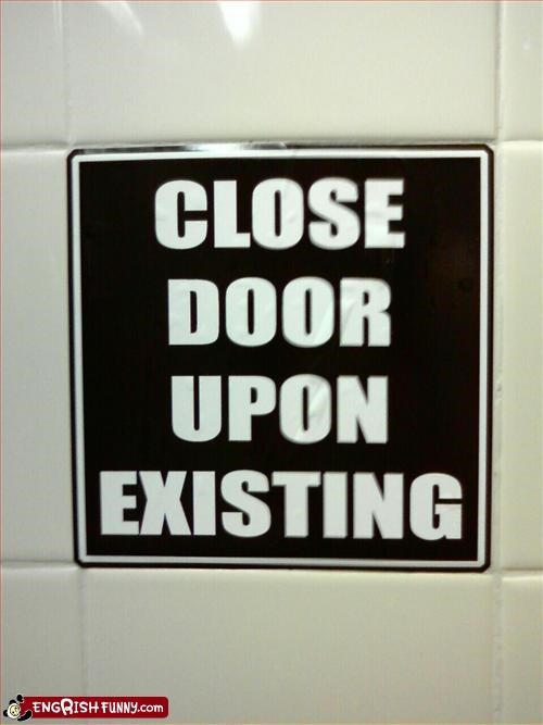close,door,exist,g rated,signs