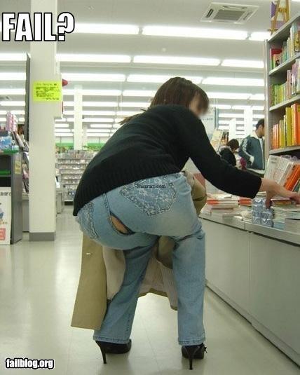 ass butt clothing jeans pants split woman - 2940273920