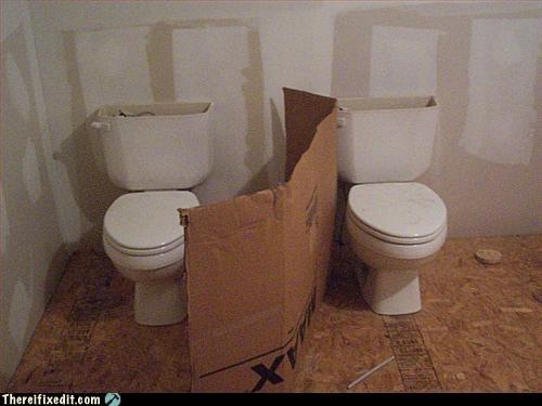 cardboard no privacy public bathroom toilet - 2940386048