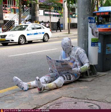 completely covered newspapers wtf - 2941792768