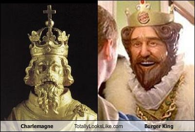 bust charlemagne sculpture the burger king