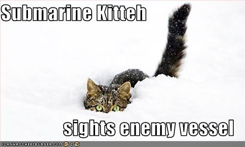 attacking,enemy,outside,plotting,snow,submarine,war