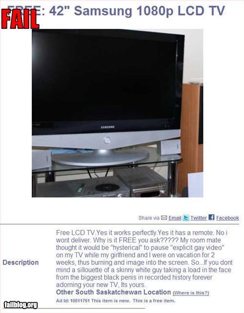 craigslist free gay porn roommate TV - 2943337472