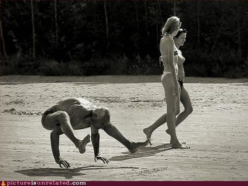 all fours,beach,running,wtf