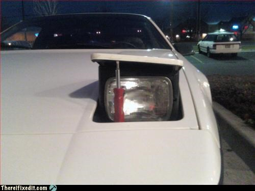 car,headlight,make it work,screwdriver