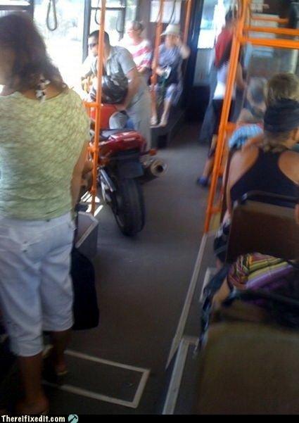 bus motorcycle public transit - 2947067136