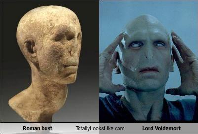 bust,Harry Potter,Lord Voldemort,ralph fiennes,roman,sculpture,statue