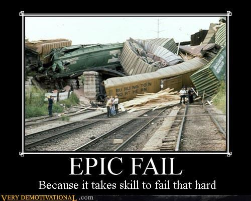 damn epic FAIL Terrifying train wreck - 2951494144