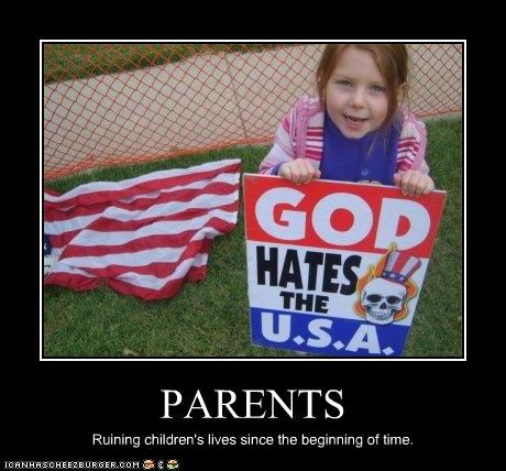 children parents religion right wing ruin Westboro Baptist Church