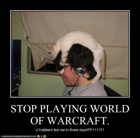 STOP PLAYING WORLD OF WARCRAFT. U habbent fed me in three days!!!!!1111!!1