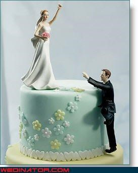bride bride-ftw bridezilla competitive bride divorce-cake-toppers Dreamcake funny cake toppers funny wedding cake toppers funny wedding photos groom technical difficulties were-in-love wedding cake toppers wtf - 2954020352