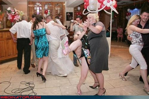 bad dancing,bride,Crazy Brides,drunk,groom,miscellaneous-oops,surprise,thong,upskirt