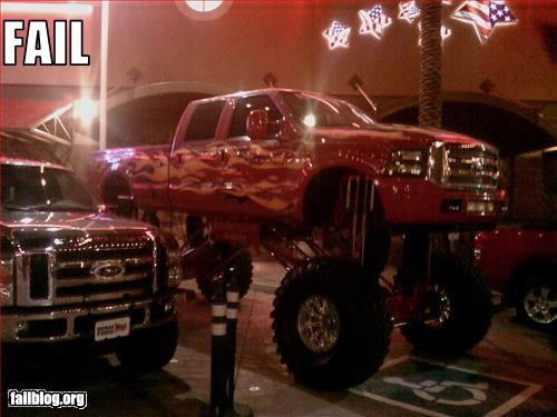 g rated handicap monster truck parking space