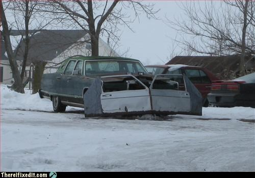car mod plow snow use what you have - 2957640192