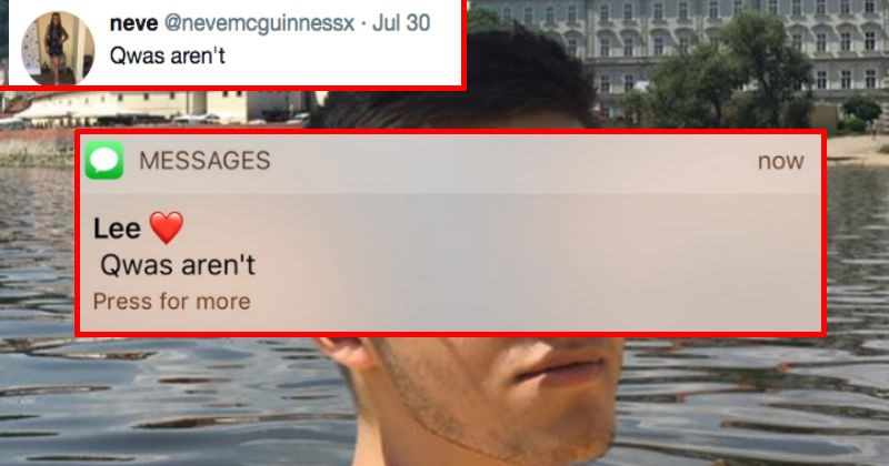 Girl tweets her boyfriend's terribly misspelled text message thread and it goes viral instantly.