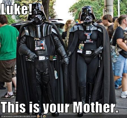 darth vader,fans,lady vader,mother,sci fi,star wars