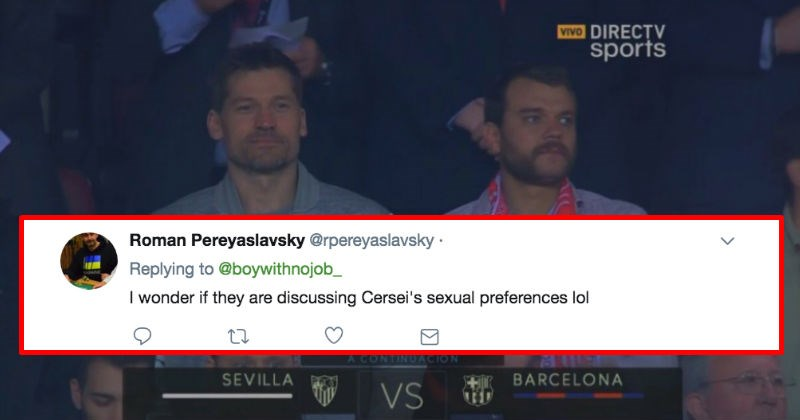 Jaime Lannister and Euron Greyjoy attend a soccer game together and people have funny reactions about it on Twitter.