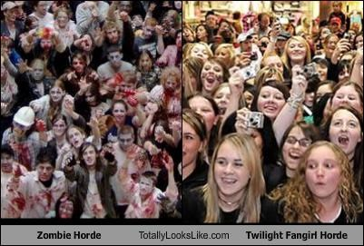 creepy,fangirls,horde,twilight,zombie