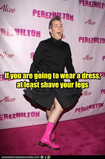 dress,famous for no reason,fashion,gossip columnists,Perez Hilton,shave,ugly