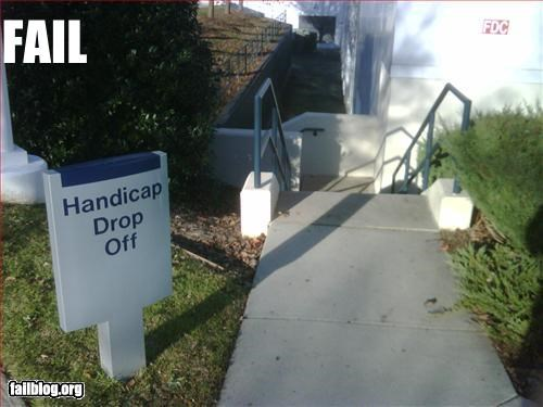drop off g rated handicap signs stairs - 2963153920