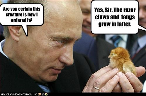 chicken monster Vladimir Putin vladurday