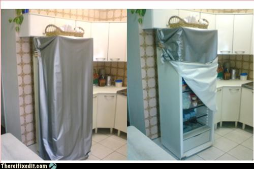 door,fridge,makeshift,use what you have