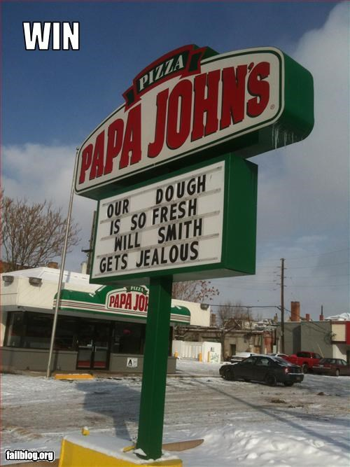 fresh g rated joke pizza restaurant signs will smith - 2966289152