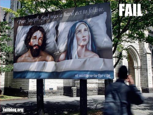 billboard church god innuendo jesus christ sex signs - 2967738624