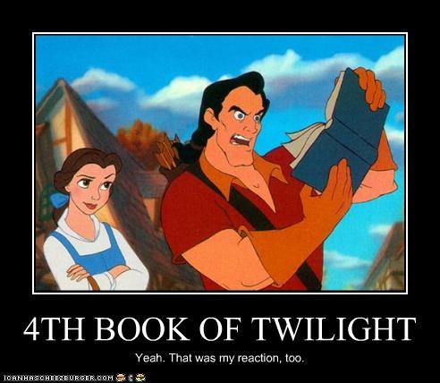 4TH BOOK OF TWILIGHT Yeah. That was my reaction, too.